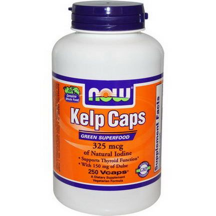 Now Foods, Kelp Caps, Green Superfood, 250 Vcaps