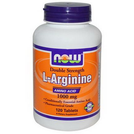 Now Foods, L-Arginine, 1000mg, 120 Tablets