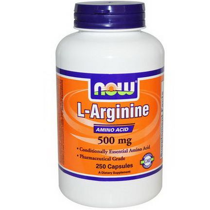 Now Foods, L-Arginine, 500mg, 250 Capsules
