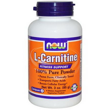 Now Foods, L-Carnitine, 100% Pure Powder 85g