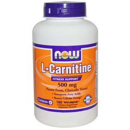 Now Foods, L-Carnitine, 500mg, 180 Vcaps