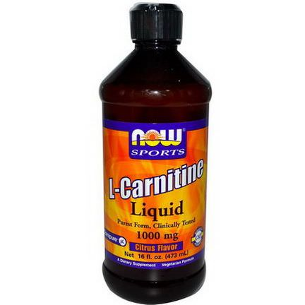Now Foods, L-Carnitine Liquid, Citrus Flavor, 1000mg 473ml