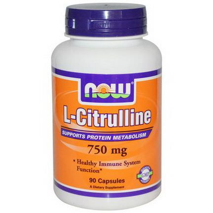 Now Foods, L-Citrulline, 750mg, 90 Capsules