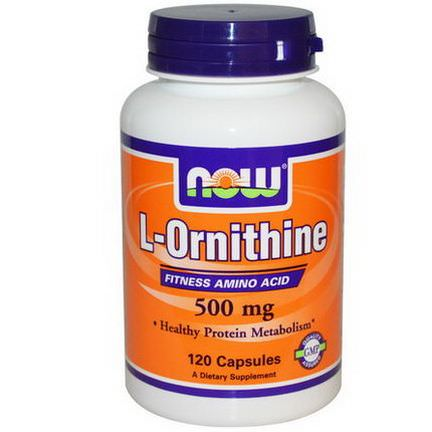 Now Foods, L-Ornithine, 500mg, 120 Capsules