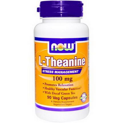 Now Foods, L-Theanine, 100mg, 90 Veggie Caps