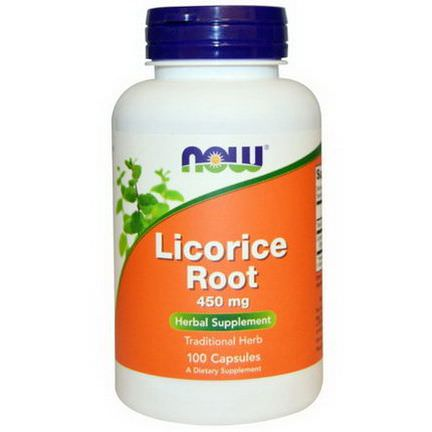 Now Foods, Licorice Root, 450mg, 100 Capsules