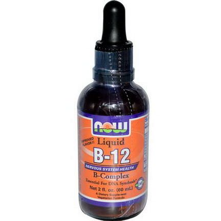 Now Foods, Liquid B-12, B-Complex 60ml