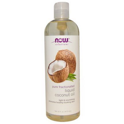 Now Foods, Liquid Coconut Oil, Pure Fractionated 473ml