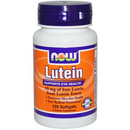 Now Foods, Lutein, 10mg, 120 Softgels