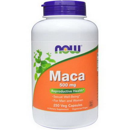 Now Foods, Maca, 500mg, 250 Veggie Caps