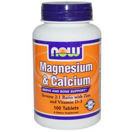 Now Foods, Magnesium&Calcium, 100 Tablets