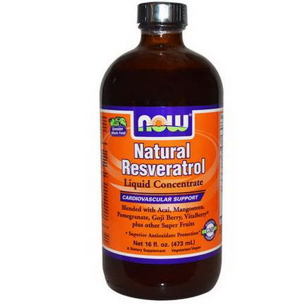 Now Foods, Natural Resveratrol, Liquid Concentrate 473ml
