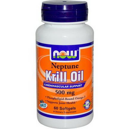 Now Foods, Neptune Krill Oil, 500mg, 60 Softgels