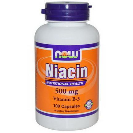 Now Foods, Niacin, 500mg, 100 Capsules