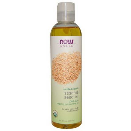 Now Foods, Now Solutions, Sesame Seed Oil, Certified Organic 237ml