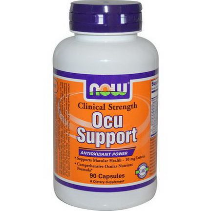 Now Foods, Ocu Support, Clinical Strength, 90 Capsules