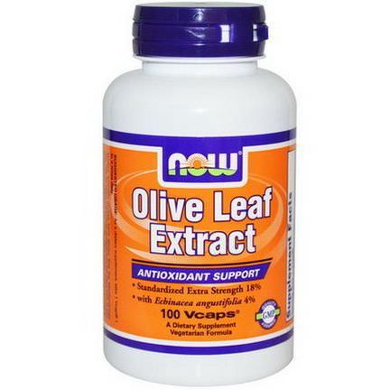 Now Foods, Olive Leaf Extract, 100 Vcaps