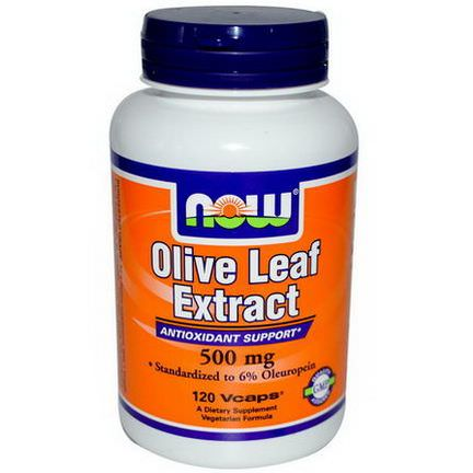 Now Foods, Olive Leaf Extract, 500mg, 120 Vcaps