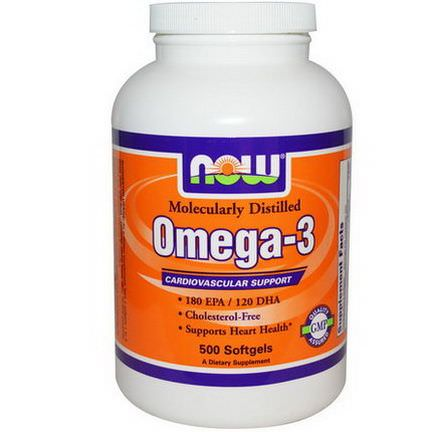 Now Foods, Omega-3, 500 Softgels