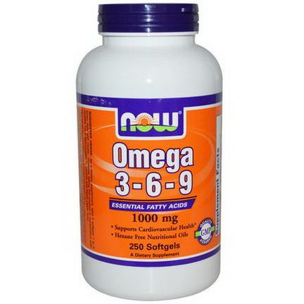 Now Foods, Omega 3-6-9, 1000mg, 250 Softgels