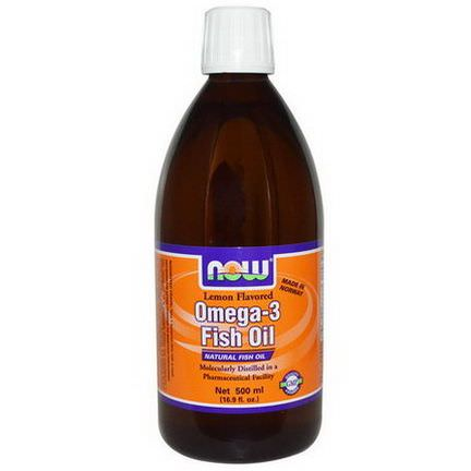 Now Foods, Omega-3 Fish Oil, Lemon Flavored 500ml