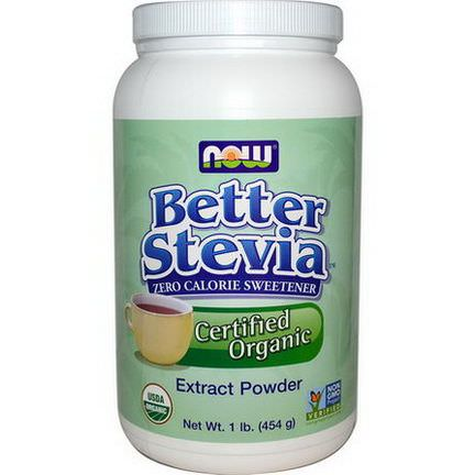 Now Foods, Organic Better Stevia, Extract Powder 454g