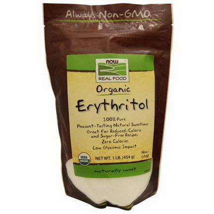 Now Foods, Organic, Erythritol, Naturally Sweet 454g
