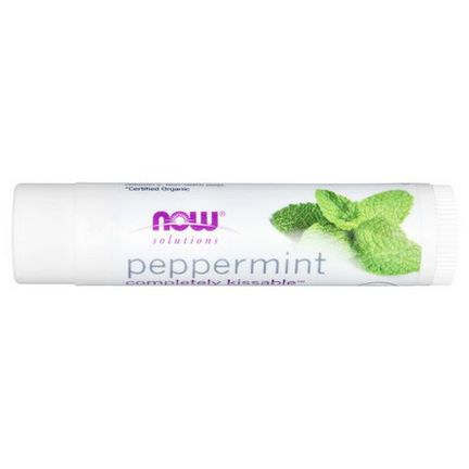 Now Foods, Organic, Solutions, Completely Kissable, Lip Balm, Peppermint 4.25g