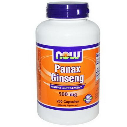 Now Foods, Panax Ginseng, 500mg, 250 Capsules