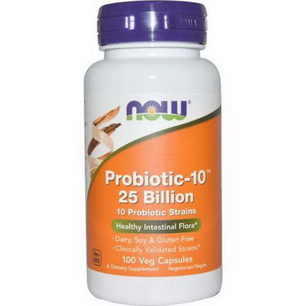Now Foods, Probiotic-10 25 Billion, 100 Veggie Caps
