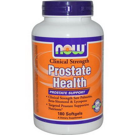Now Foods, Prostate Health, Clinical Strength, 180 Softgels