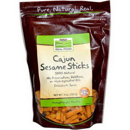 Now Foods, Real Food, Cajun Sesame Sticks 255g