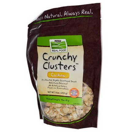 Now Foods, Real Food, Crunchy Clusters, Cashew 255g