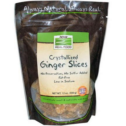 Now Foods, Real Food, Ginger Slices, Crystallized 340g