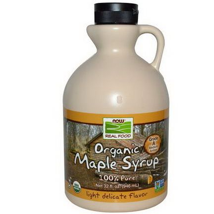 Now Foods, Real Food, Organic Maple Syrup, Grade A, Medium Amber 946ml
