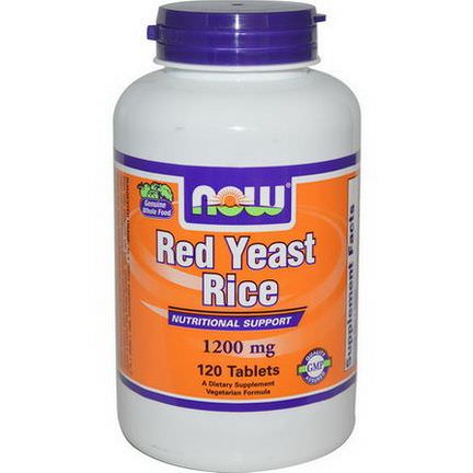 Now Foods, Red Yeast Rice, 1200mg, 120 Tablets