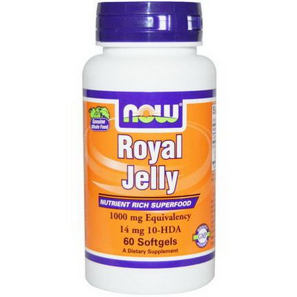 Now Foods, Royal Jelly, 1000mg, 60 Softgels