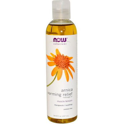 Now Foods, Solutions, Arnica Warming Relief Massage Oil 237ml