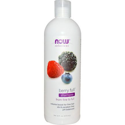 Now Foods, Solutions, Berry Full Shampoo 473ml