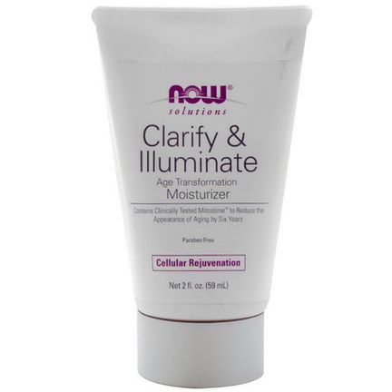 Now Foods, Solutions, Clarify&Illuminate Moisturizer 59ml