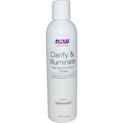 Now Foods, Solutions, Clarify&Illuminate Toner 237ml