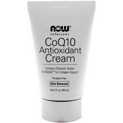 Now Foods, Solutions, CoQ10 Antioxidant Cream 59ml
