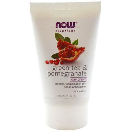 Now Foods, Solutions, Day Cream, Green Tea&Pomegranate 59ml