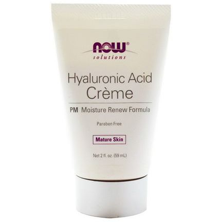 Now Foods, Solutions, Hyaluronic Acid Creme, PM Moisture Renew Formula 59ml
