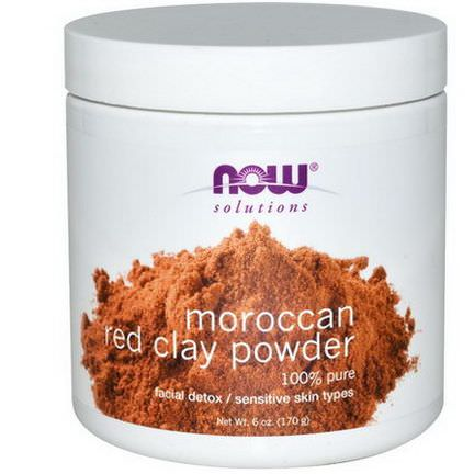 Now Foods, Solutions, Moroccan Red Clay, Facial Detox, Powder 170g