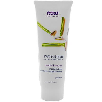 Now Foods, Solutions, Nutri-Shave, Natural Shave Cream 237ml