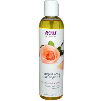 Now Foods, Solutions, Tranquil Rose Massage Oil 237ml
