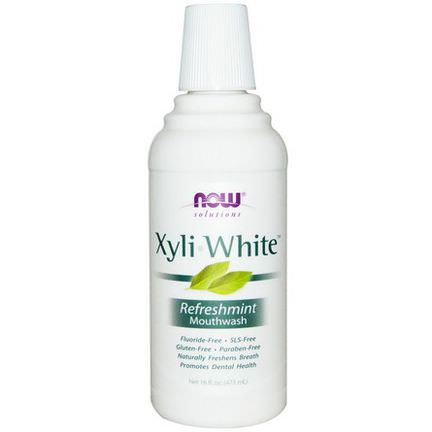 Now Foods, Solutions, Xyli-White Mouthwash, Refreshmint 473ml