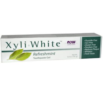 Now Foods, Solutions, Xyli-White Toothpaste Gel, Refreshmint 181g