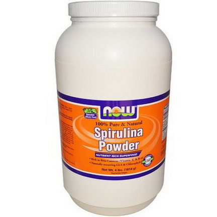 Now Foods, Spirulina Powder, 100% Pure&Natural 1814g